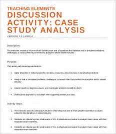 case analysis templates 7 free word pdf format