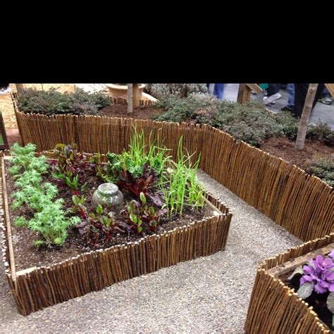 Twig Planters by Pretty Twig Border For Planter Boxes Garden