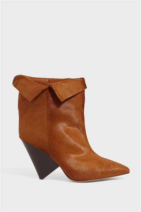 Liana Skirt Brown lyst marant luliana leather ankle boots in brown