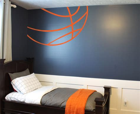 sports bedroom wallpaper basketball lines wall decal trading phrases
