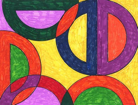 abstract pattern idea frank stella abstract drawing art projects for kids