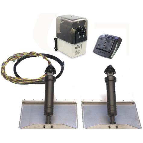 add trim tabs to boat bennett marine traditional hydraulic trim tab kit 24 quot x 9