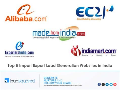 Top Mba Websites India top 5 import export business websites in india