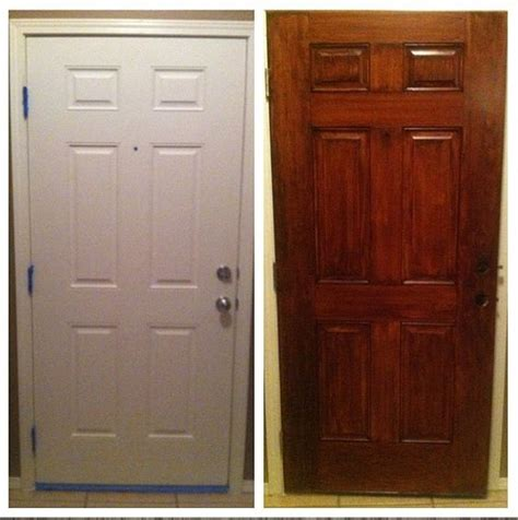 Stain Interior Door How To Stain An Interior Door Staining Interior Doors White Woodworking Projects How To Stain
