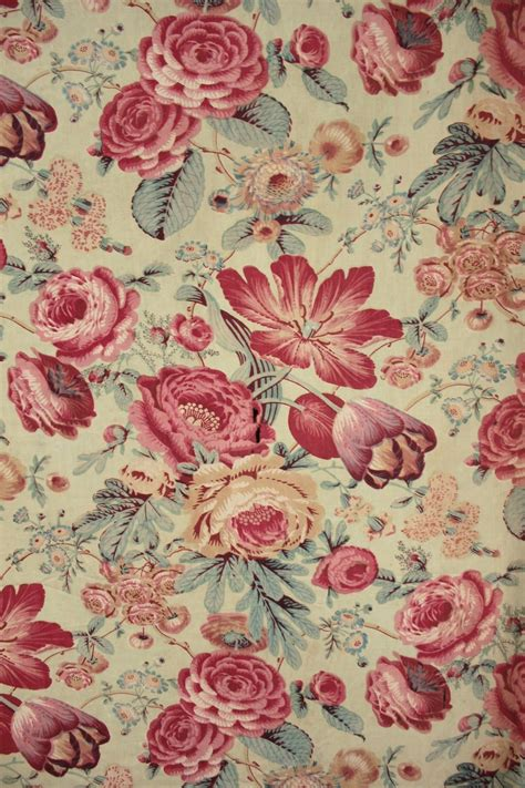 printable fabric material french antique fabric c1850 green chintz floral design