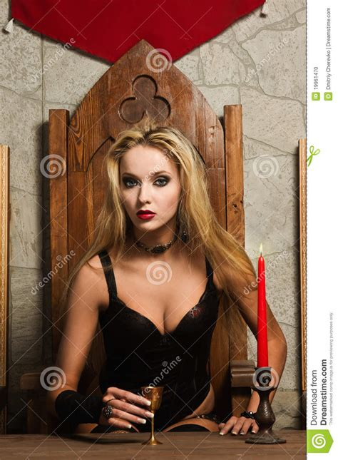 Gothic Interior Design the very pretty woman vamp stock photo image 19961470