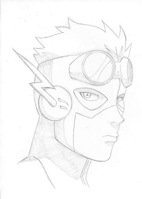 coloring pages of kid flash kid flash free colouring pages