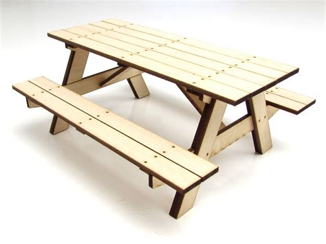 Wood Picnic Table Kit by Gear Rc 1 10 Scale Miniature Wood Picnic Table Kit