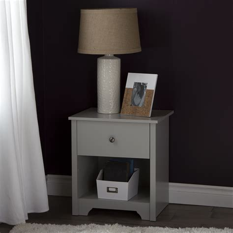 Grey Bedroom Stands South Shore Vito 1 Drawer Stand Soft Gray Home
