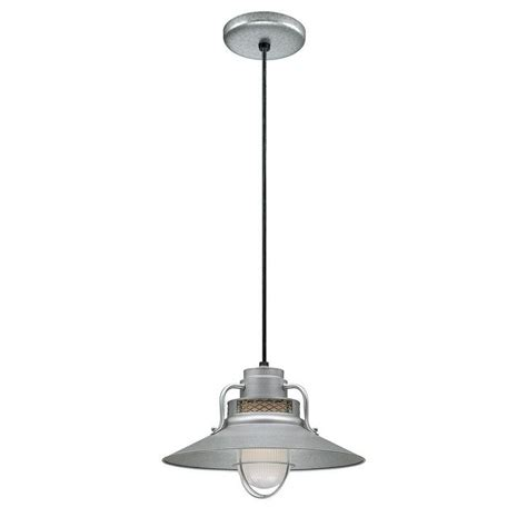 Galvanized Pendant Barn Light Shop Millennium Lighting R Series 14 In Galvanized Barn Mini Warehouse Pendant At Lowes