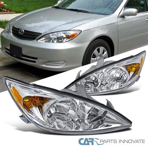 2004 Toyota Camry Light 2002 2004 Toyota Camry Le Xle Se Chrome Clear Headlights