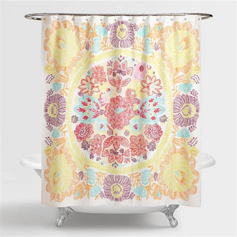 world market shower curtains rachel shower curtain world market