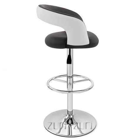 monza bar stool black and white monza adjustable height swivel armless bar