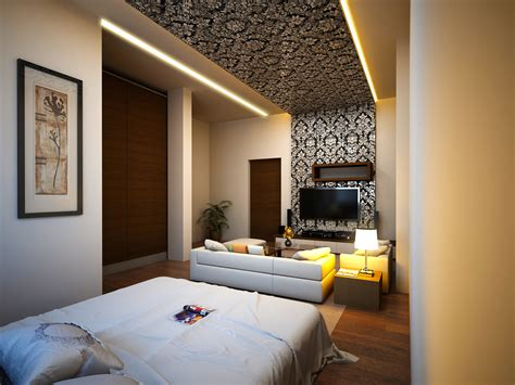 3d bedroom 3d rendering master bedroom conceiled light wallpaper ary