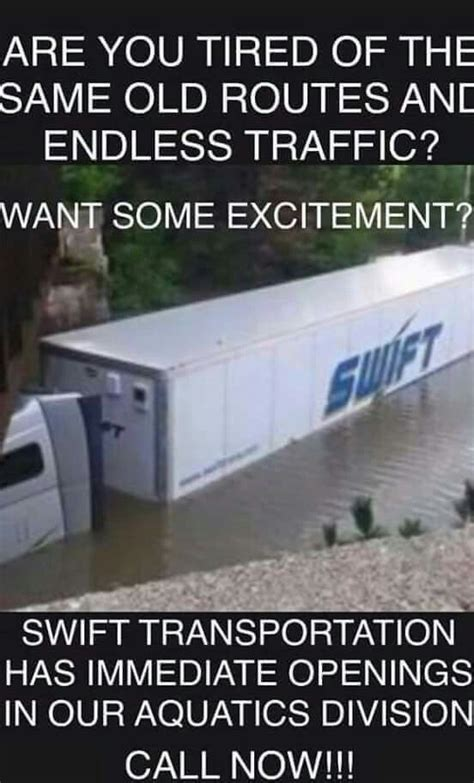 Swift Trucking Memes - 228 best images about trucking humor on pinterest trucks school today and truck driver wife