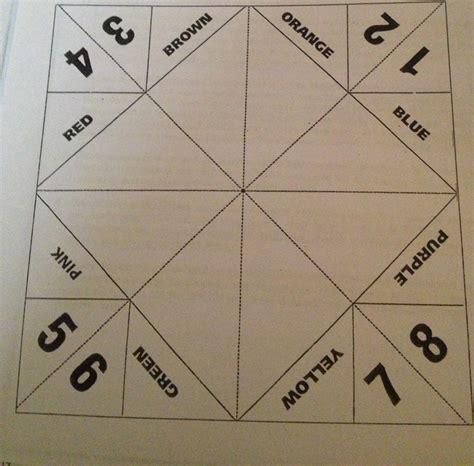 problem solving fortune teller template social skills
