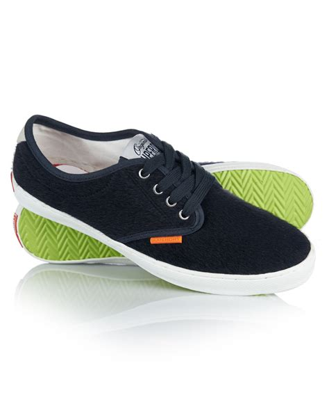 new womens superdry casual dap shoes navy pony ebay