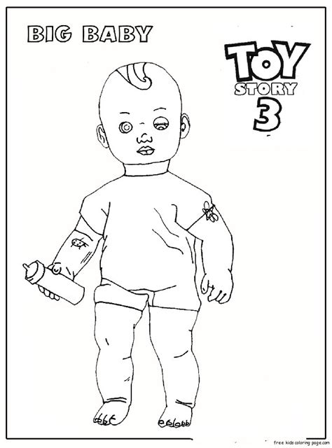 Big Baby Toy Story 3 Coloring Pages For Kidsfree Printable Story 3 Colouring Pages