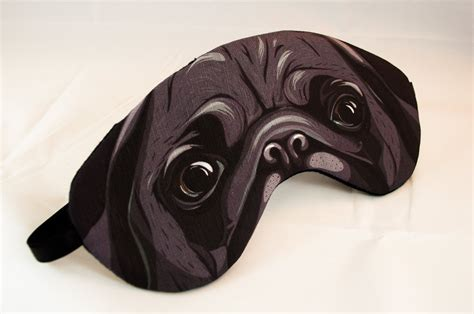 pug sleep mask black pug sleep mask by appendageaccessories on etsy