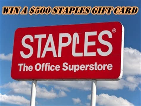 Staples Sweepstakes - www staplescares com win a 500 staples gift card via staples retail customer