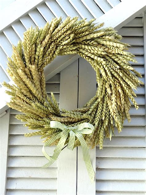 how to make a fall wreaths for front door how to make a fall wheat wreath tutorial