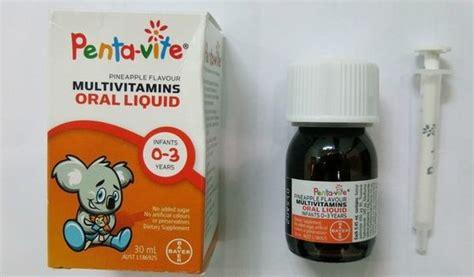 Vitamin Pentavite vitamin tổng hợp pentavite cho b 233 từ 0 3 tuổi