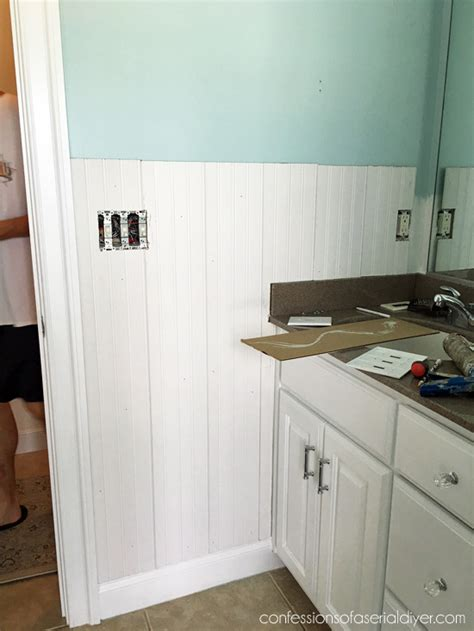 Wainscoting Around Corners by How To Install Wainscoting Confessions Of A Serial Do It
