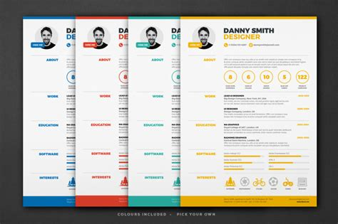 18 one page resume template ai indesign psd and word