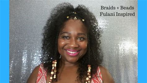 how to make fulani hairstyle braids beads hairstyle fulani inspired youtube