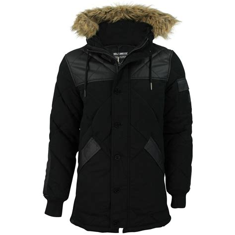 Voi Quilted Jacket Mens by Mens Quilted Parka Jacket By Voi Detroit Fur Trim