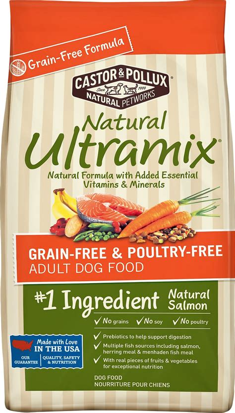 castor and pollux food reviews castor pollux ultramix salmon grain free poultry free food