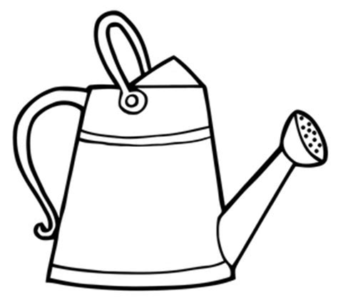 Clipart Watering Can Clipart Best Watering Can Coloring Page