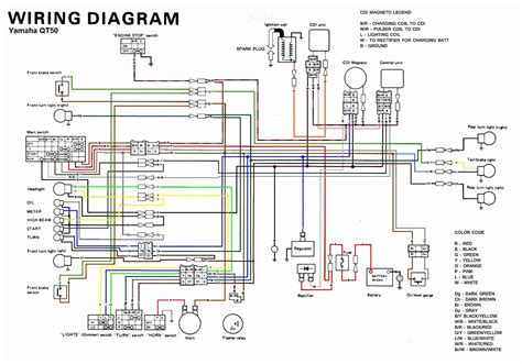 yamaha qt 50 wiring diagram wiring diagram schematic