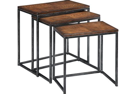 nesting accent tables vanler cherry nesting tables accent tables dark wood