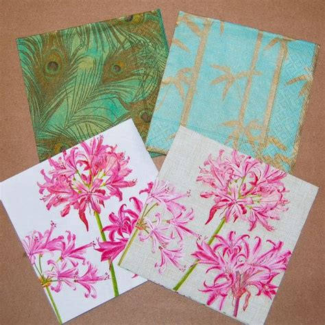 Craft Ideas With Paper Napkins - servilletas decoupage plumas pavo real y flores de