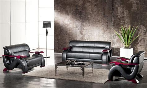 black leather sofa set 2033 black modern bonded leather sofa set