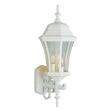 Outdoor Lighting White Bel Air Lighting Wall Mount 1 Light Outdoor Rust Coach Lantern With Clear Glass 4181 Rt The