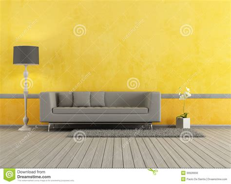 Living Room Background Stock Images Gray And Yellow Living Room Royalty Free Stock Image