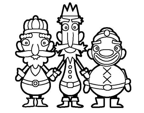 imagenes reyes magos para pintar dibujo de los reyes magos de oriente para colorear