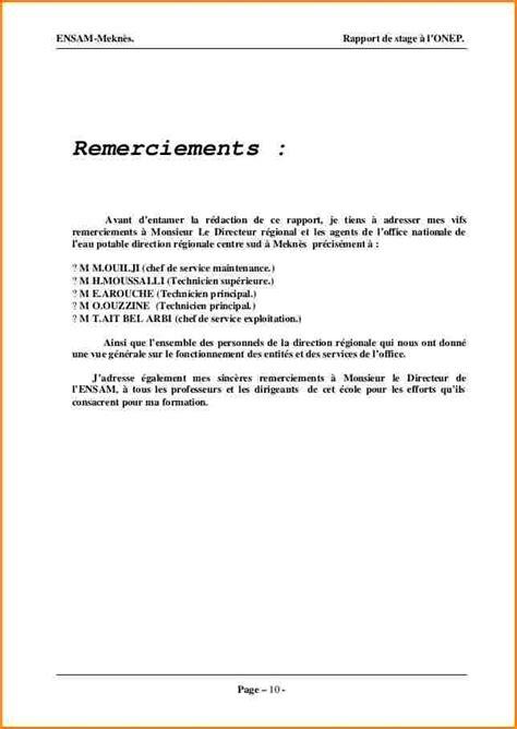 Exemple Lettre De Remerciement Fin De Stage 9 Lettre De Remerciement Rapport De Stage Curriculum Vitae Etudiant