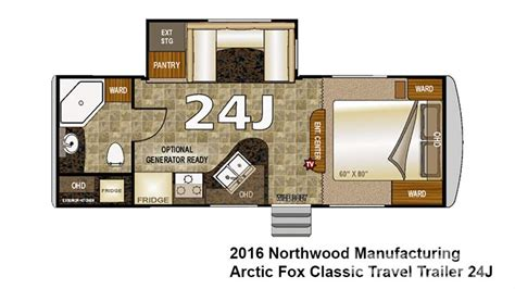 arctic fox rv floor plans arctic fox travel trailer floor plans 2016 northwood