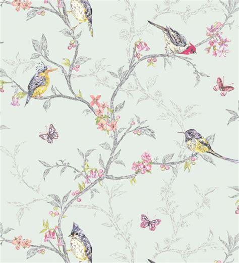 grey wallpaper yellow birds papel pintado rom 225 ntico con p 225 jaros y ramas fondo verde