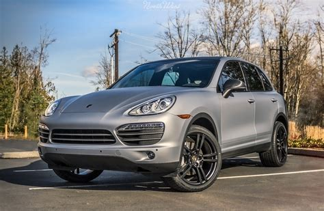 porsche cayenne matte porsche cayenne matte silver vehicle wrap with custom