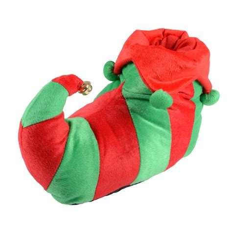 christmas house shoes unisex adult elf red green christmas novelty slippers with non slip soles new