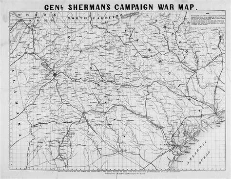 map of atlanta during civil war general sherman s caign war map