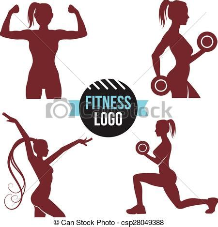 logo programming exercises vector of fitness logo set silhouettes fitness club csp28049388 search