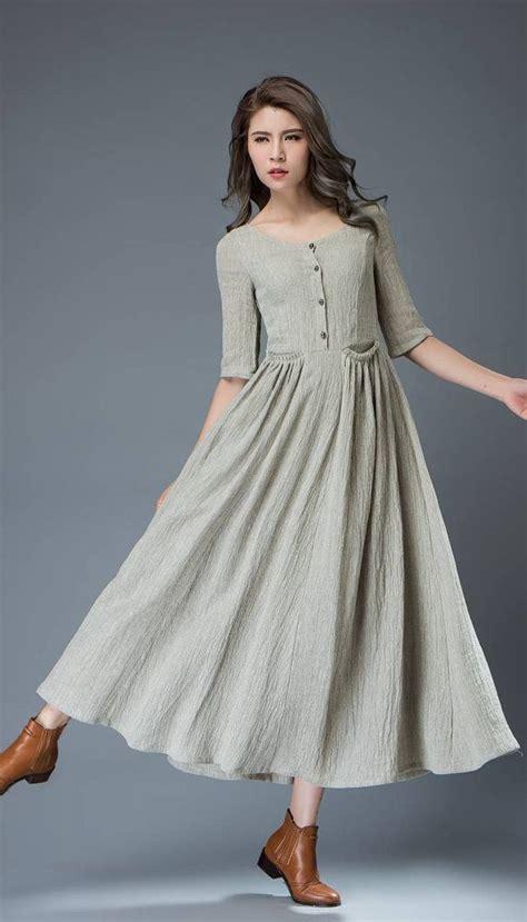 Maxi Mandarin Da linen dress linen dress maxi dress dress dress maxi linen dress sleeve