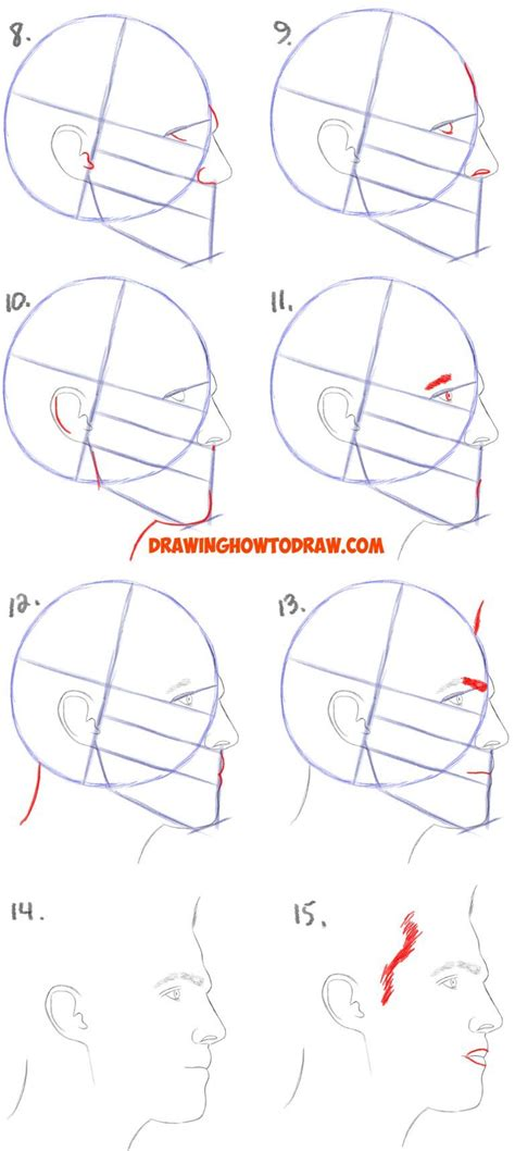 tableau tutorial for beginners step by step how to draw a face from the side profile view male man