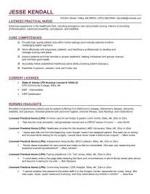 Lpn Resume Template by Lpn Resume Exles Free Resume Templates