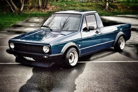 volkswagen rabbit pickup stanced vw mk1 rabbit truck caddy lowered caddy vw mk1